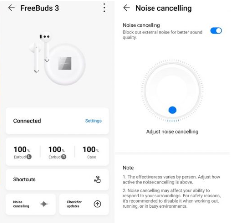 huawei earbuds 3 interface