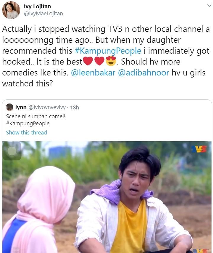 netizen terhibur kampung people