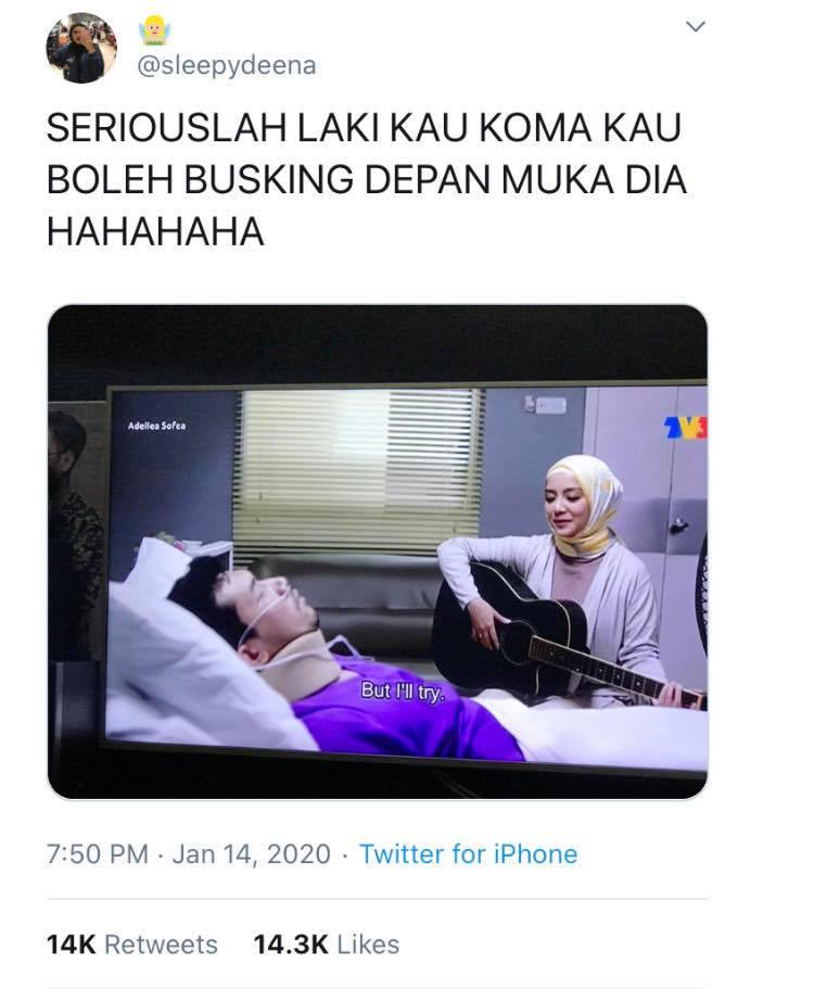Adellea Sofea Mira Filzah busking suami koma