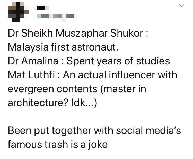 Dr Amalina Dr Sheikh Muszaphar