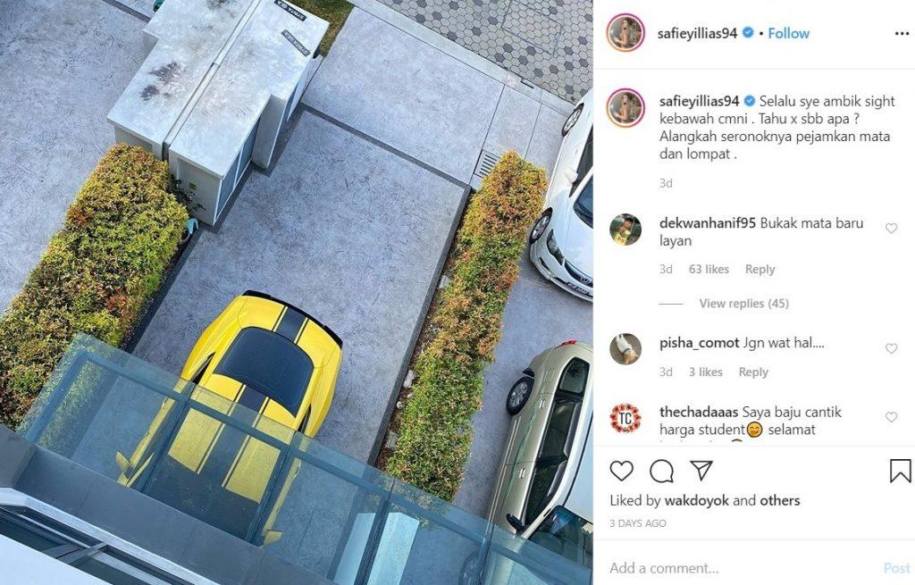 safiey illias terjun balkoni