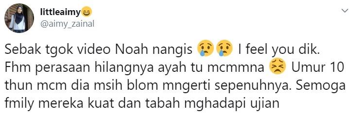 noah sinclair menangis