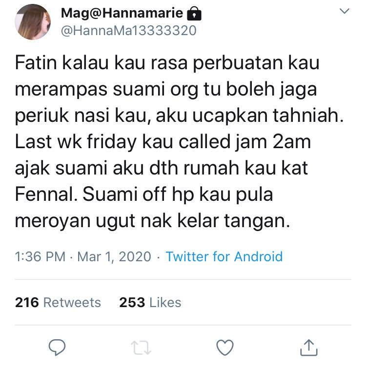 fatin afeefa suami orang
