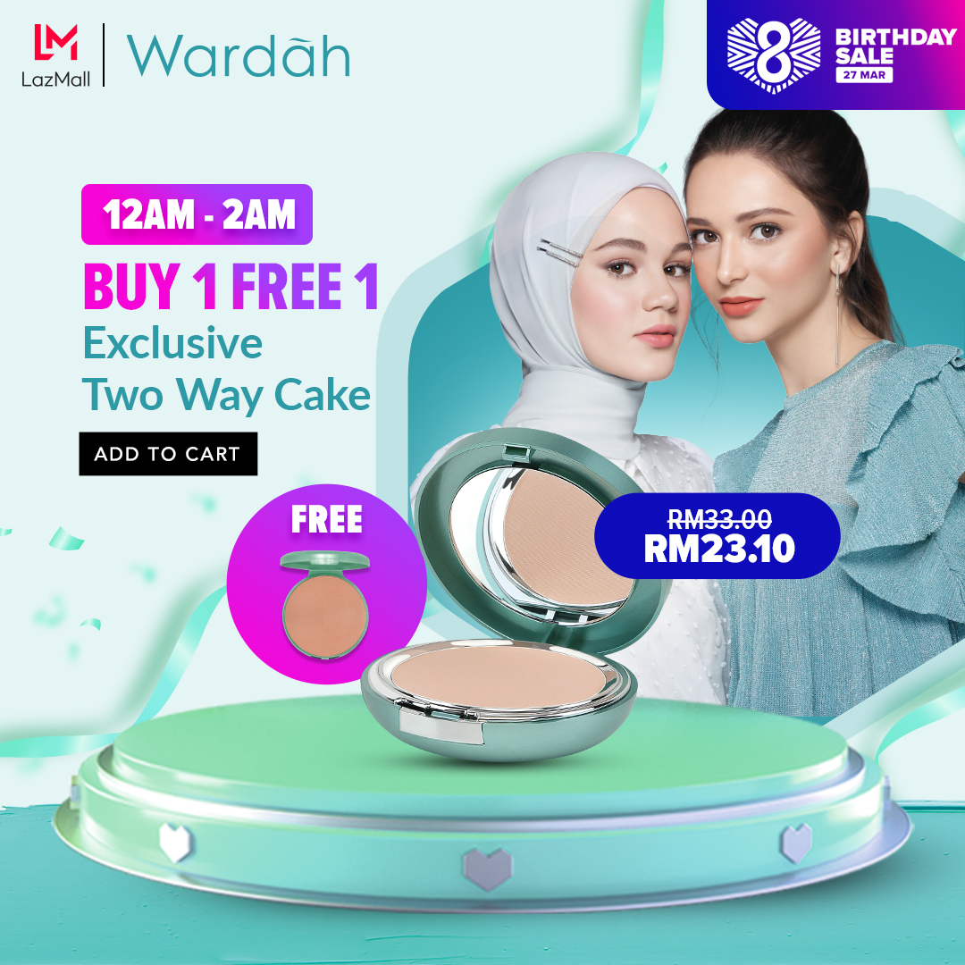 wardah x lazada birthday sale