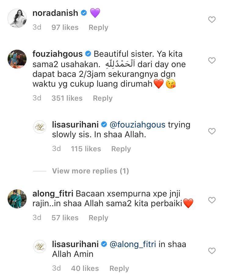lisa surihani istiqamah mengaji al-quran