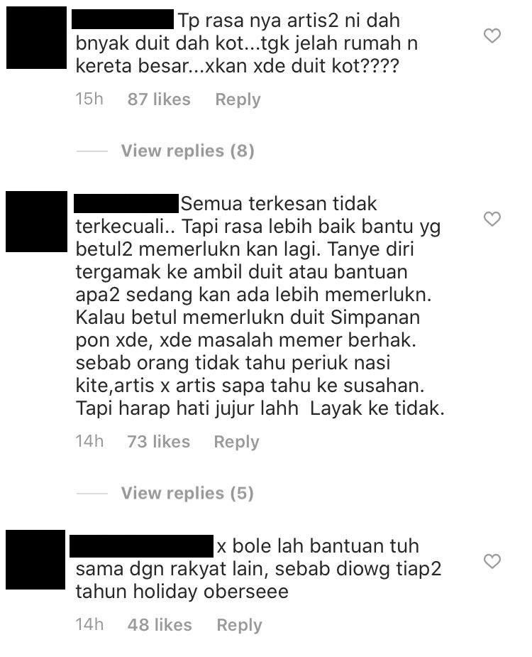netizen kecam tomok bantuan kerajaan