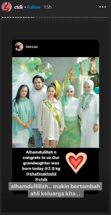 izara aishah lahir bayi perempuan