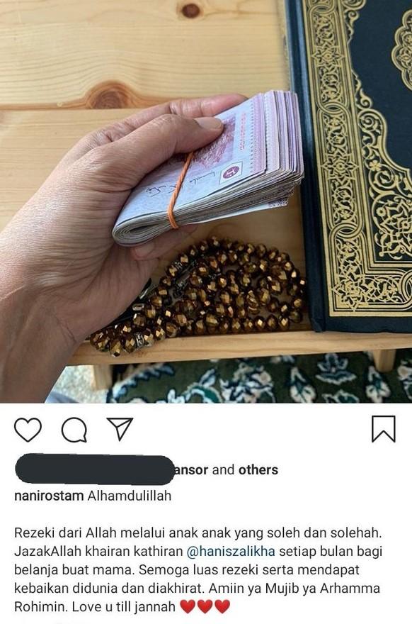 ibu hanis zalikha dikecam tayang duit
