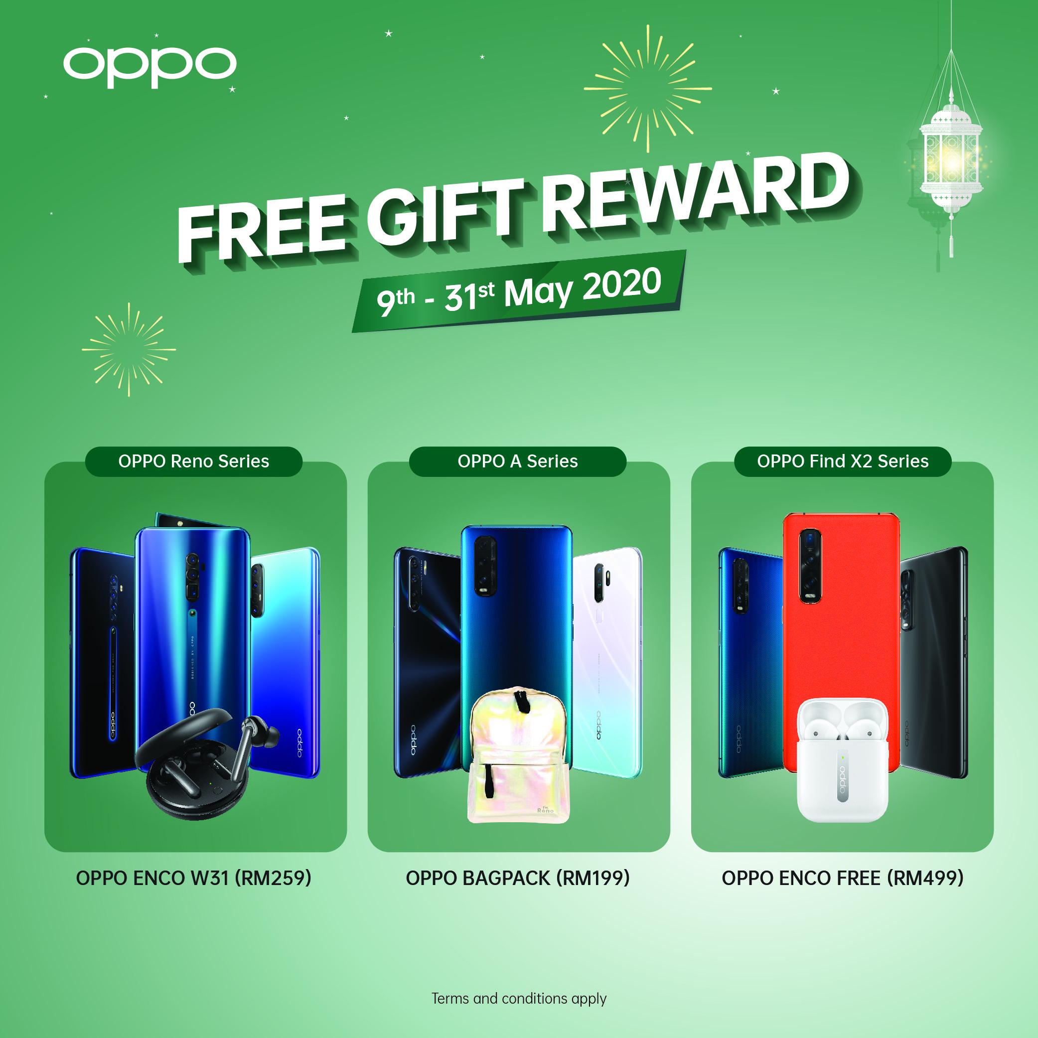 oppo free gift reward