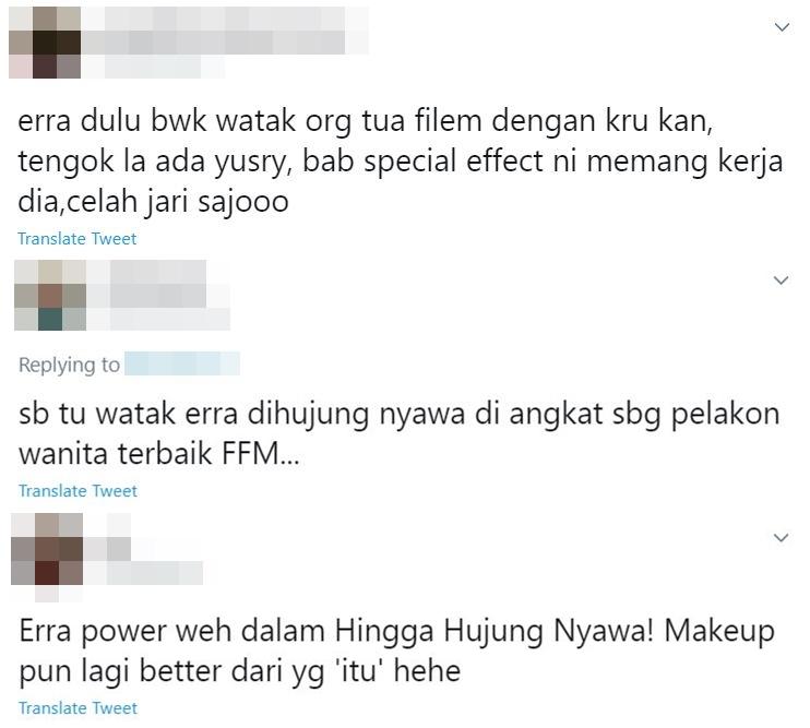 netizen puji erra fazira dalam hingga hujung nyawa