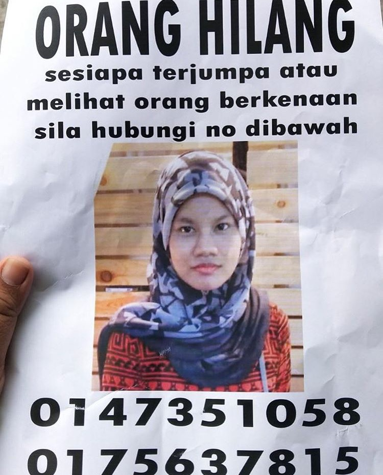 anak saudara fauzi nawawi hilang
