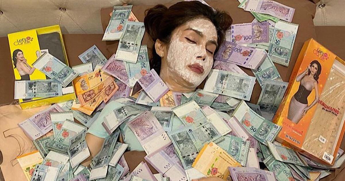 nursajat tidur dengan lambakan duit