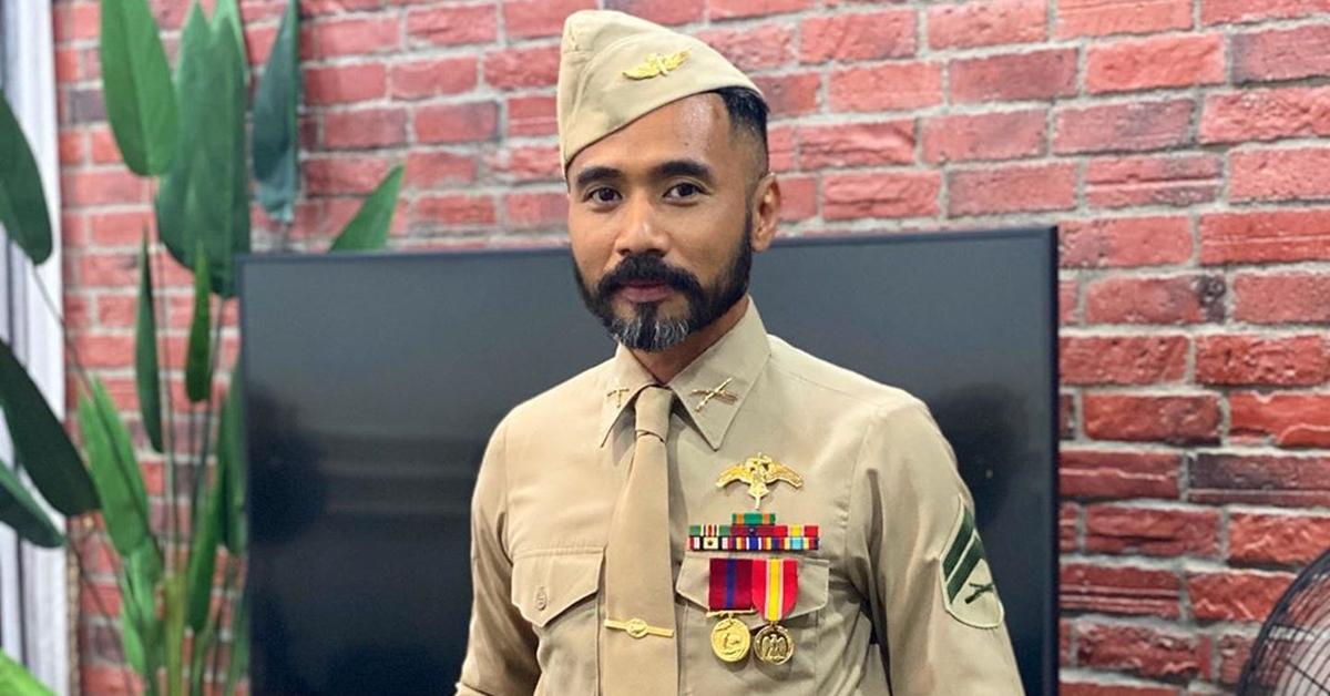 wak doyok ditegur pakai seragam tentera us salah