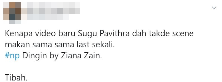 tiada sugu dalam video baru pavithra