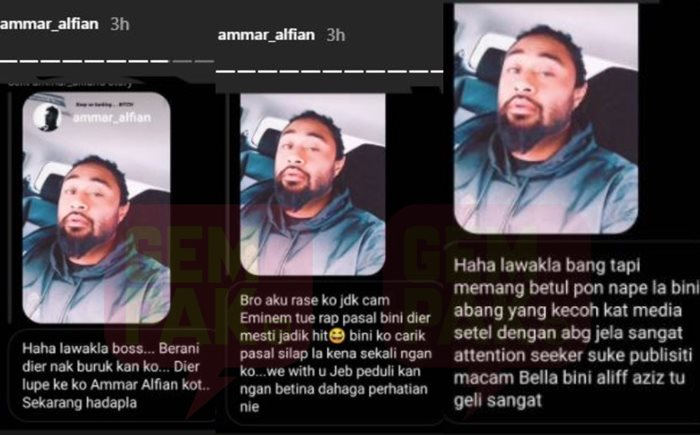 """""""Teruskan Menyalak... Bi*ch"""" - Ammar Alfian Sindir Isteri?"""