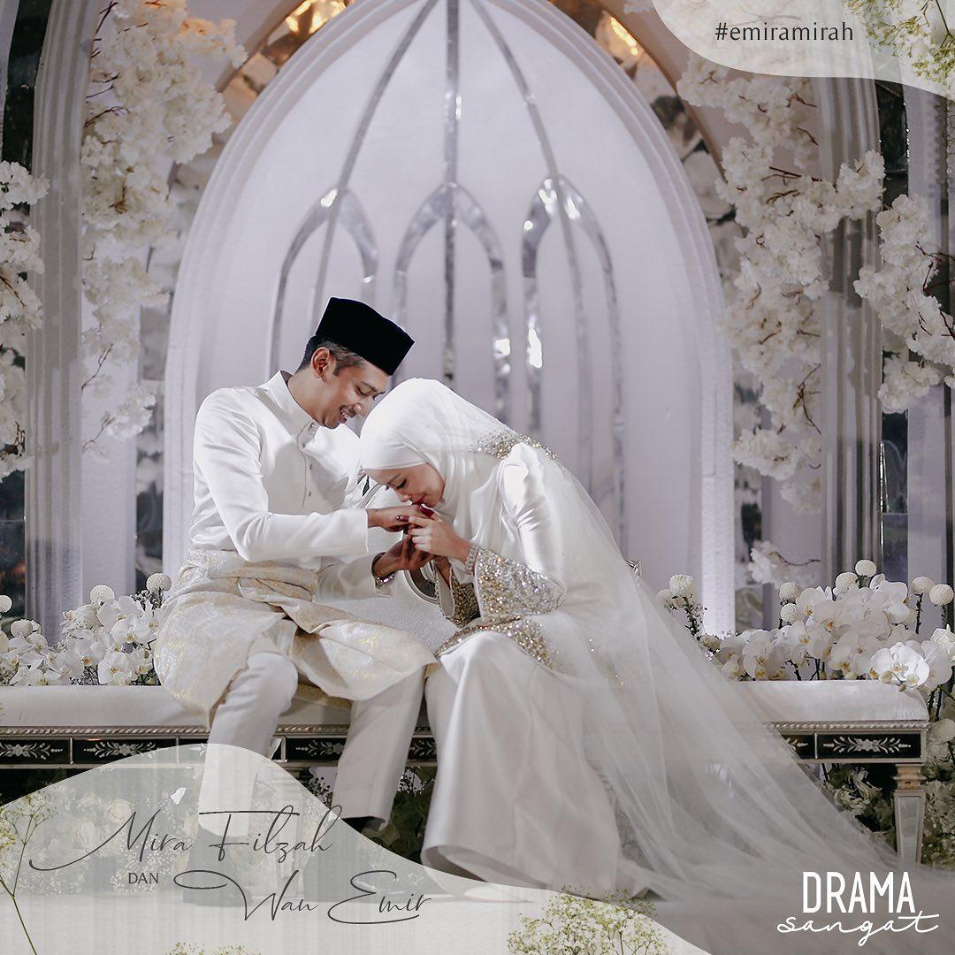 mira filzah dan wan emir selamat bernikah
