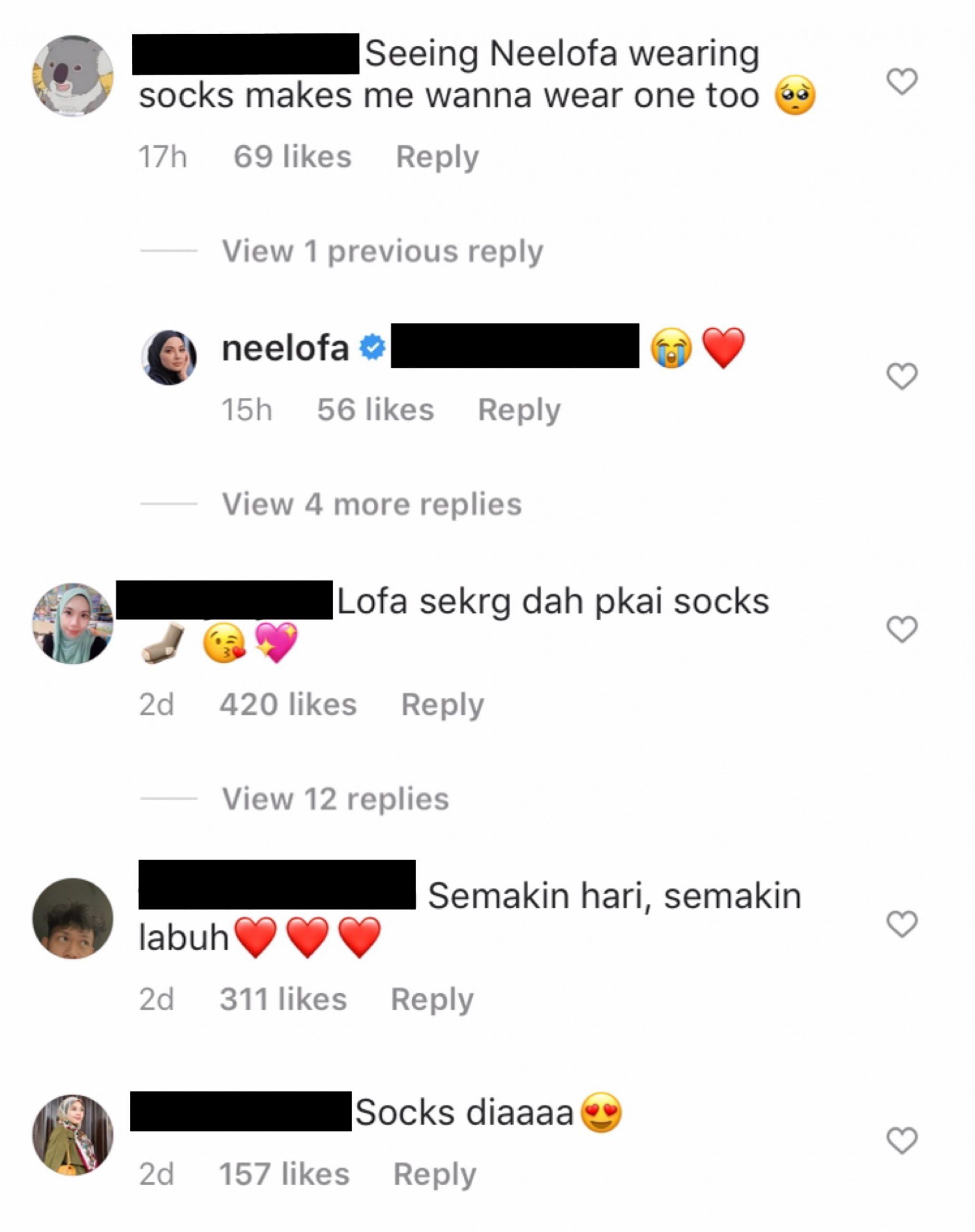 Netizen Teruja Neelofa Mula Pakai Sarung Kaki