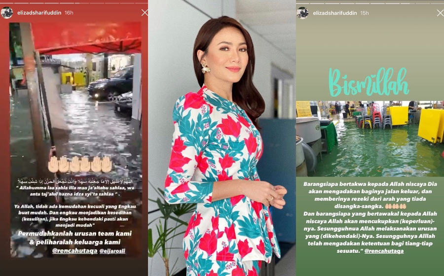 Siti Elizad Dedah Kedai Makan Miliknya Dilanda Banjir Kilat