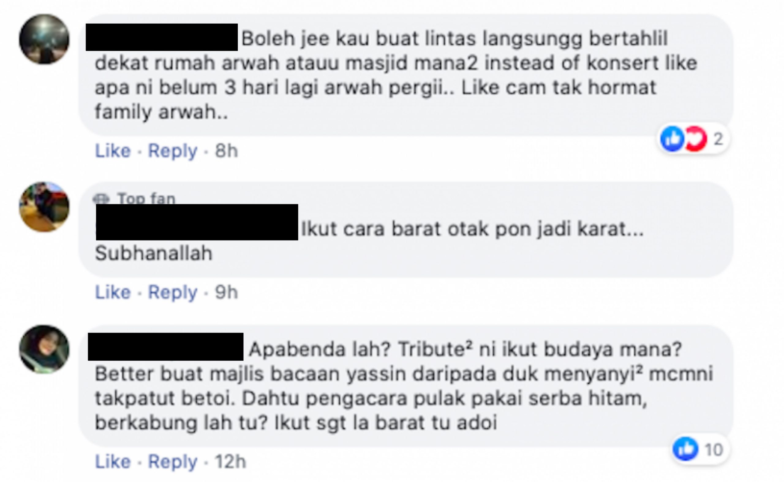 """Baik Buat Majlis Tahlil"" – Terlalak-Lalak, Konsert Tribute #SandraDalamKenangan Dihentam Netizen"