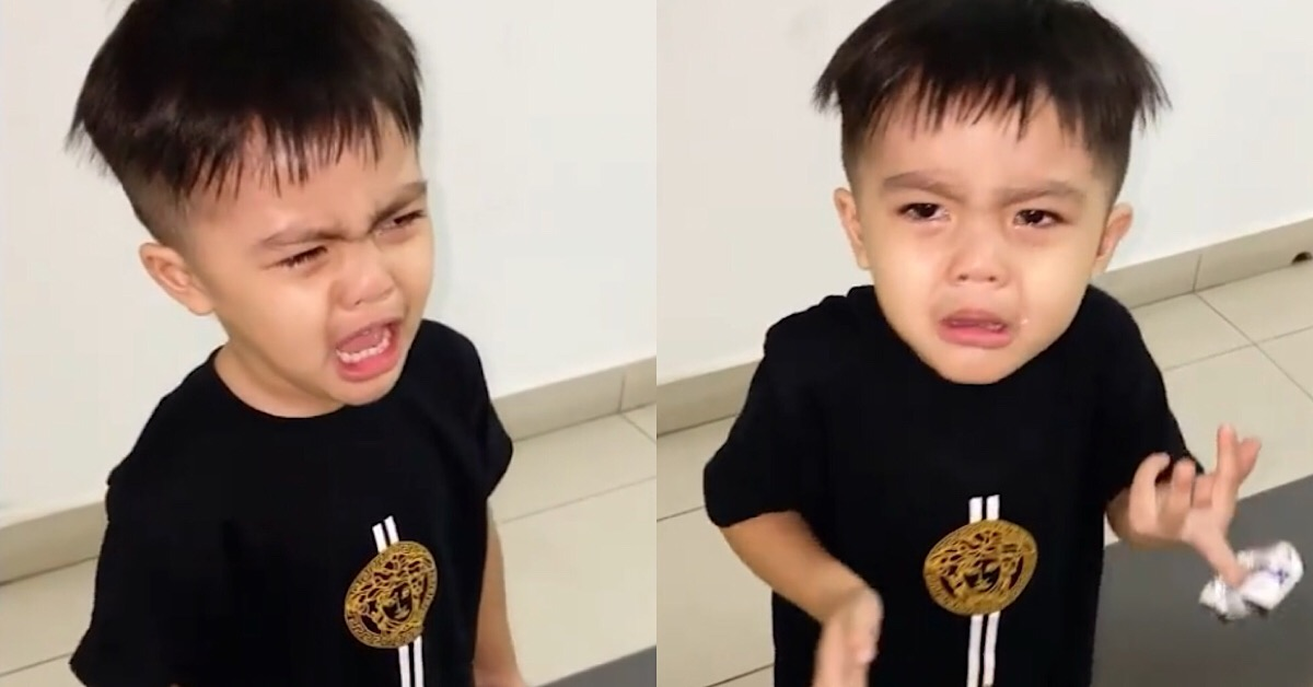 ayden anak aliff aziz menangis rindu bapa di singapura