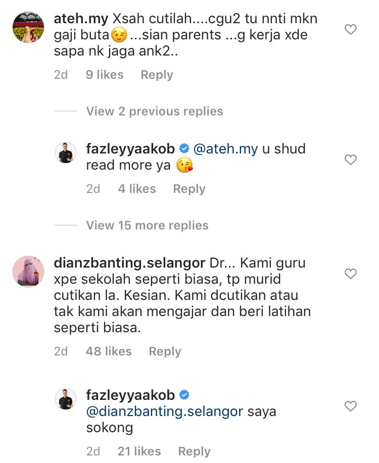 Fazley yaakob covid19