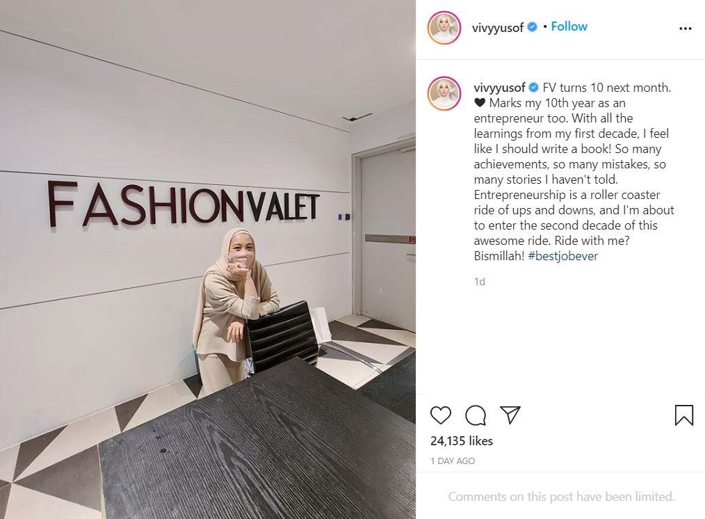 vivy yusof 10 tahun sebagai usahawan