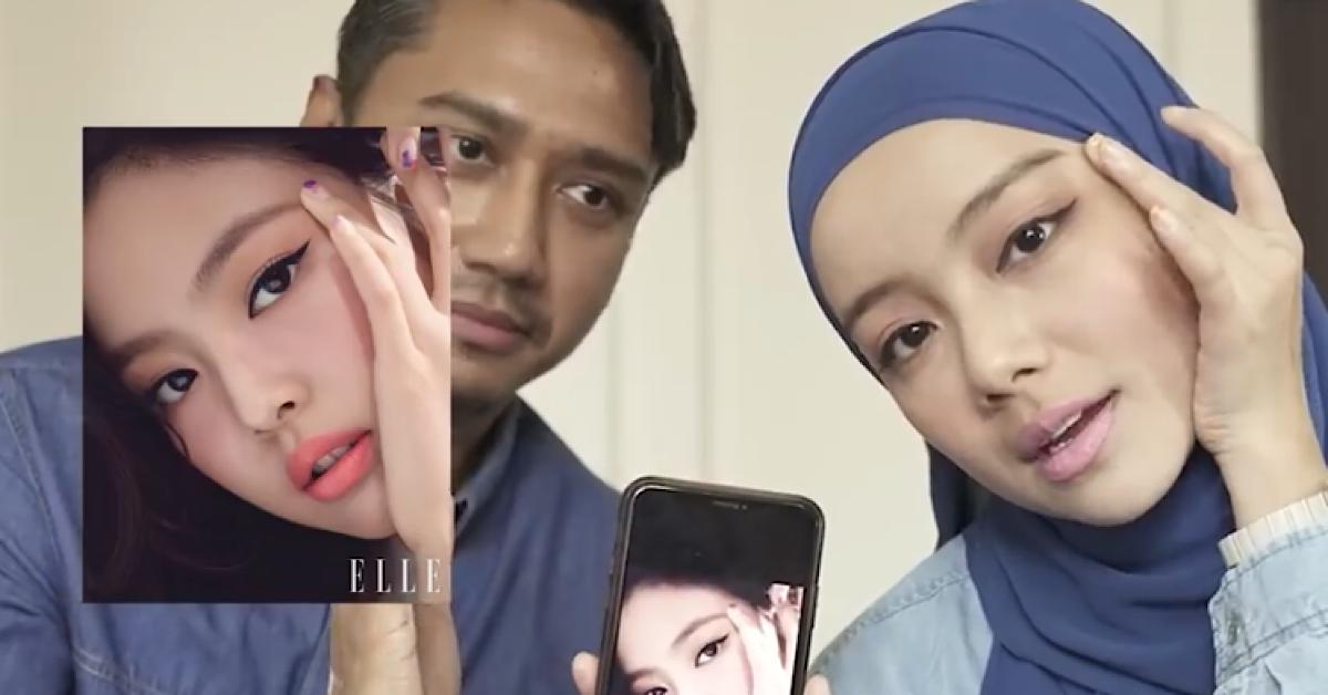 Mira Filzah Teruja Suami Berjaya Buat Solekan Ala Jennie Blackpink Di Wajahnya 4
