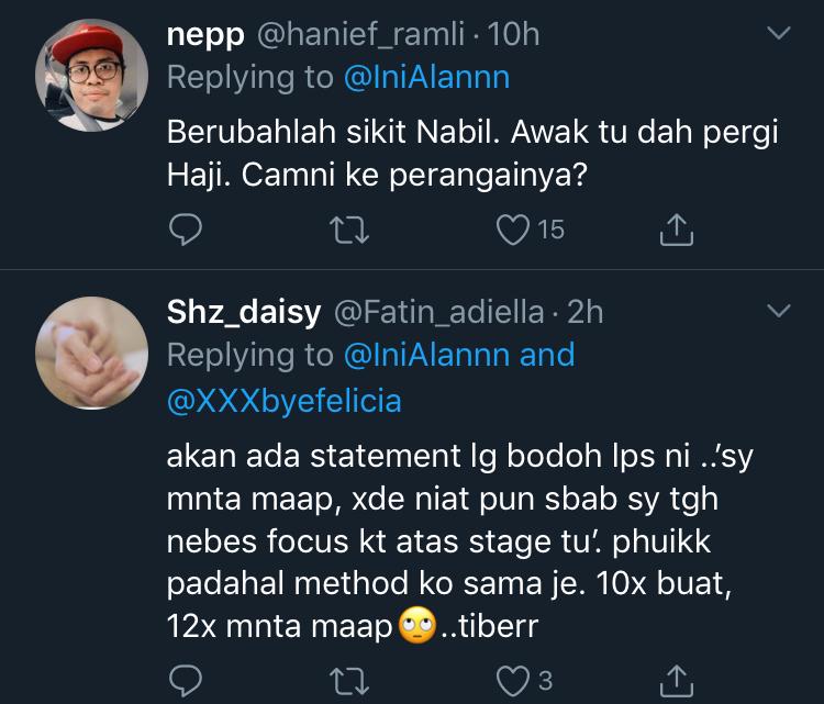 Nabil Ahmad Sindir Azwan Ali Kembali Mengacara? 8