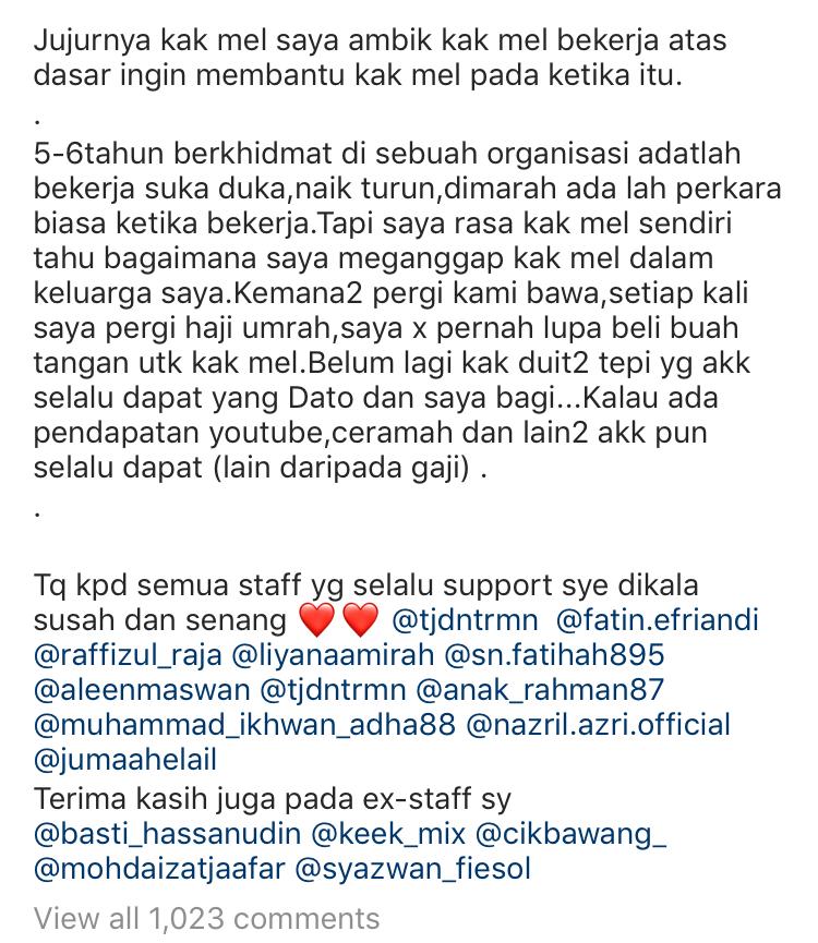 """Bekas Pembantu Peribadi Datuk Aliff Syukri Nafi Panggil Datin Shahida """"Si Bodoh"""" & """"Betina"""" 9"""