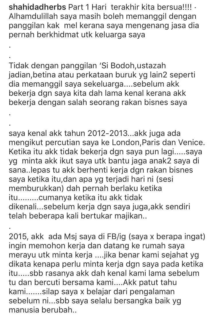 """Bekas Pembantu Peribadi Datuk Aliff Syukri Nafi Panggil Datin Shahida """"Si Bodoh"""" & """"Betina"""" 8"""