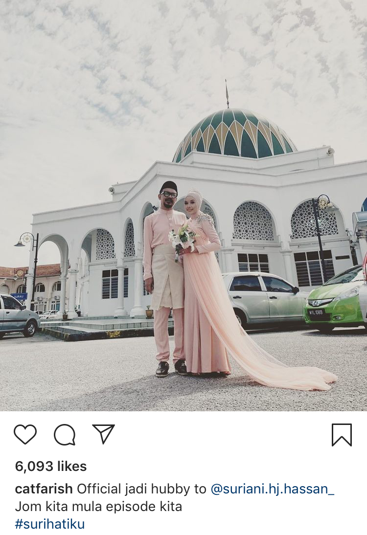 (TAHNIAH) Cat Farish Selamat Nikahi Pereka Fesyen Selepas 4 Tahun Menduda 4