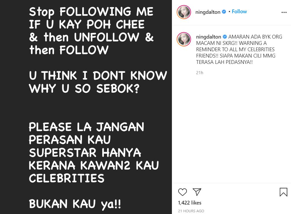 """""""Jangan Perasan Kau 'Superstar'.."""" Luah Perasaan Di Instagram, Ning Baizura Beri Amaran Dekat Siapa? 5"""