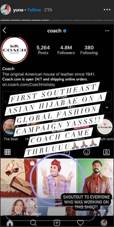 Sebaris Dengan JLo, Michael B. Jordan, Penyanyi Yuna Wanita Bertudung Pertama Terlibat Dalam Kempen Jenama Mewah Coach 4
