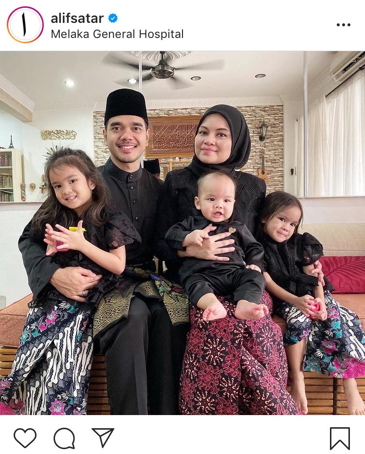 Isteri dan anak alif satar negatif covid19