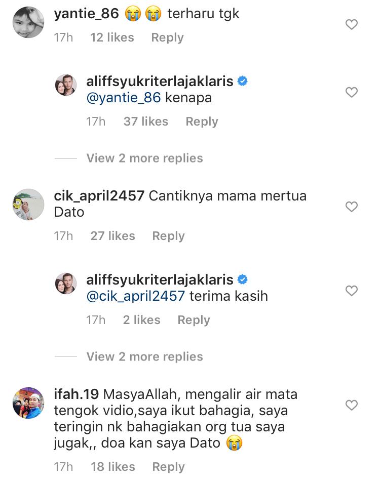 aliff syukri surprise ibu mertua honda cr-v