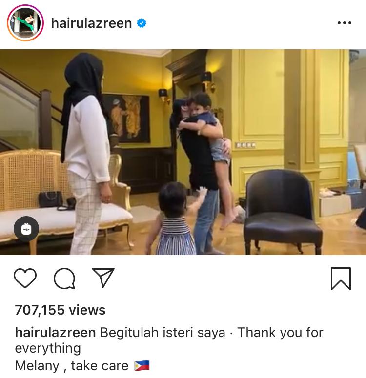 Hanis zalikha menangis maid pulang ke filipina