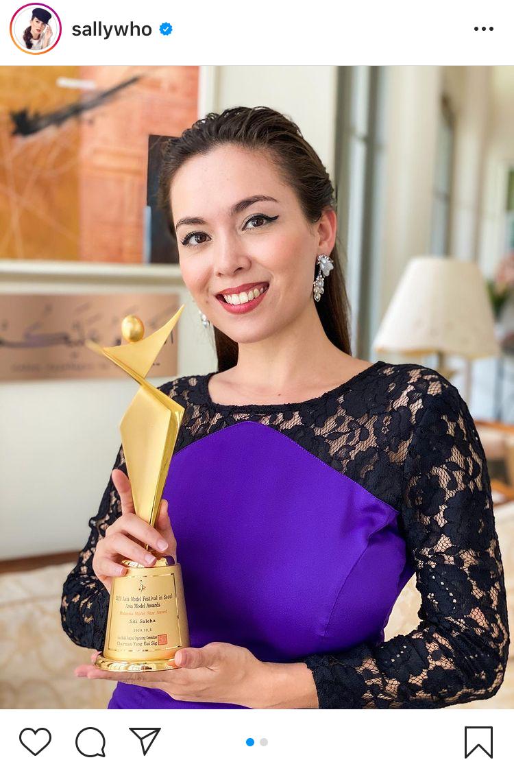 (TAHNIAH) Raih Anugerah Di Peringkat Antarabangsa, Siti Saleha Sandang Trofi Asia Model Awards 2020 4