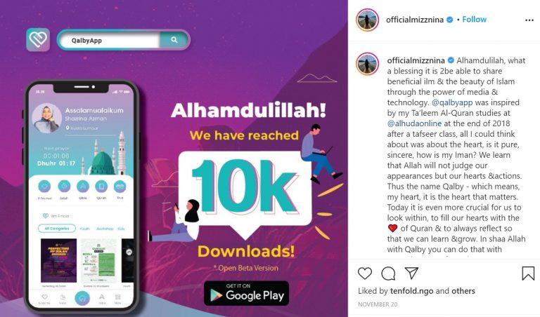 "Selepas Neelofa, Kini Giliran Mizz Nina Lancar Aplikasi Islamik ""Qalby App"" 7"