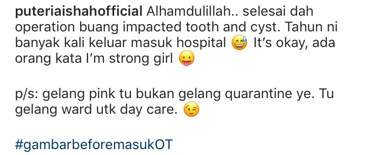 Banyak Kali Masuk Hospital, Puteri Aishah Dedah Dirinya Tabah Diuji Kesakitan 7