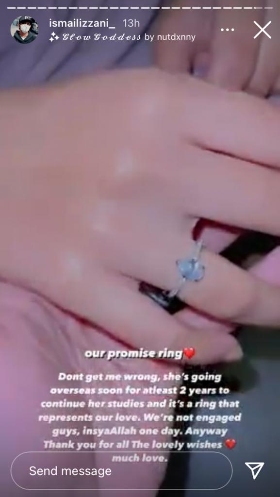 Cincin tanda Ismail Izzani kepada Shalma
