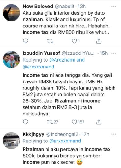 Netizen cuba meneka pendapatan sebenar Rizalman Ibrahim