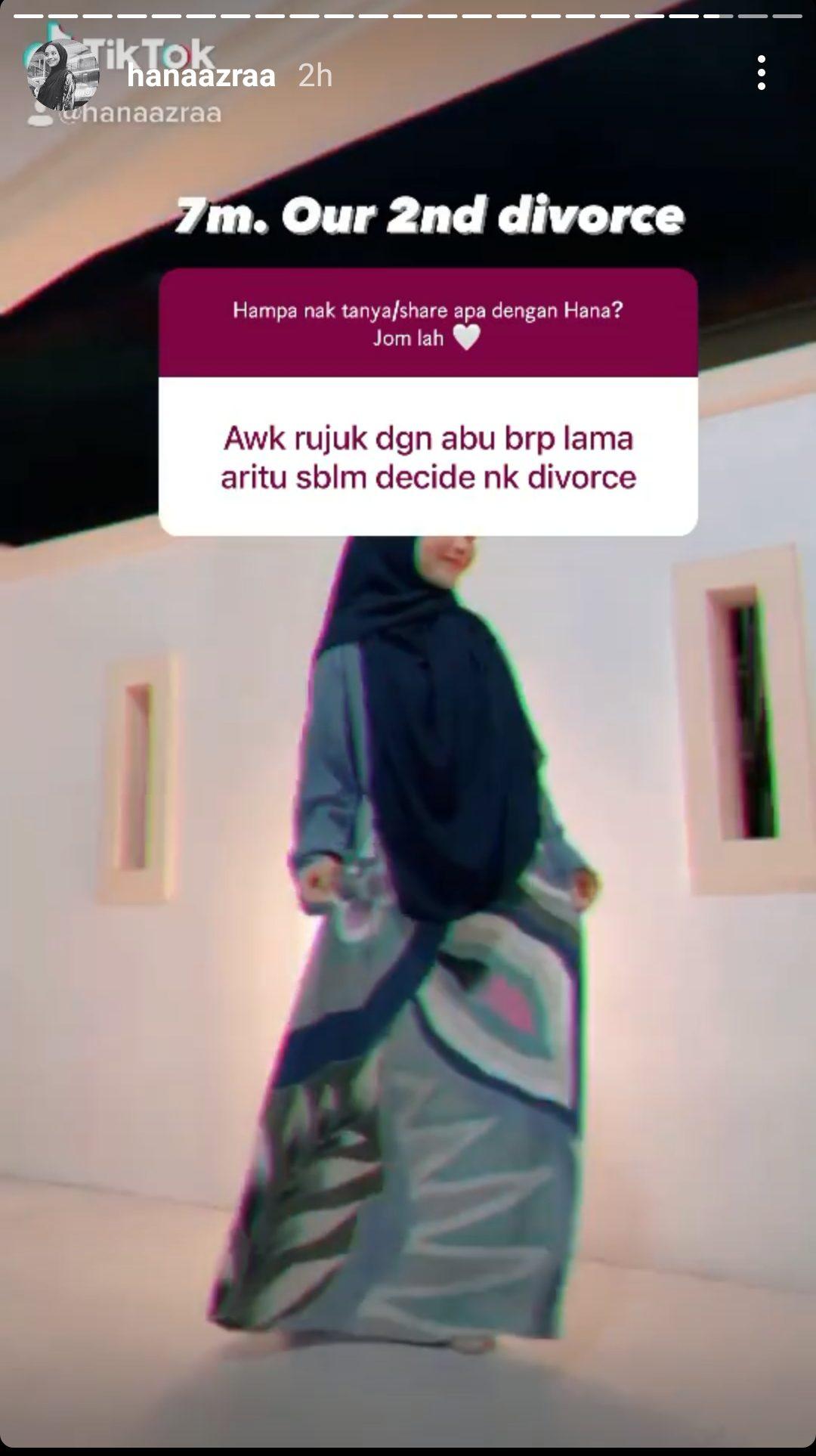 pu abu dan hana azraa bercerai