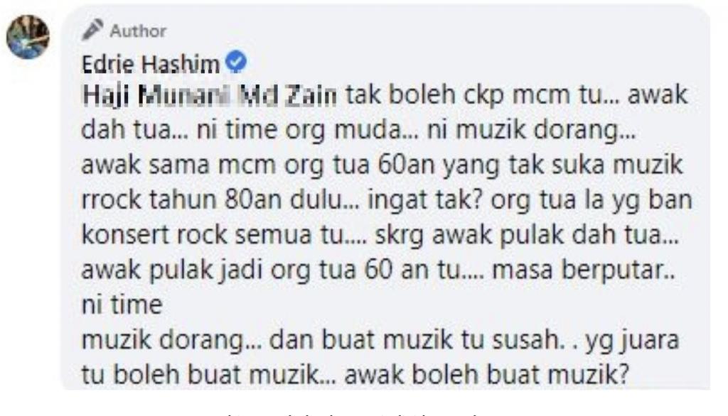 Facebook Edrie Hashim