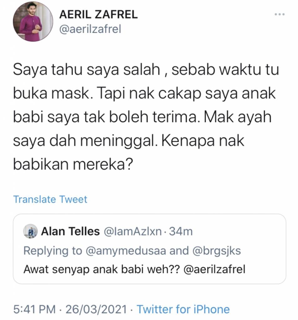 Aeri Zafrel tweet