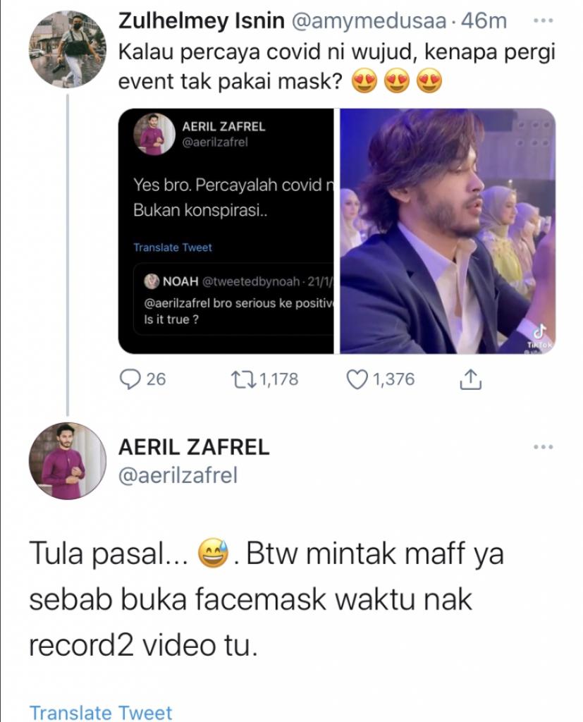 Aeril zafrel tweet