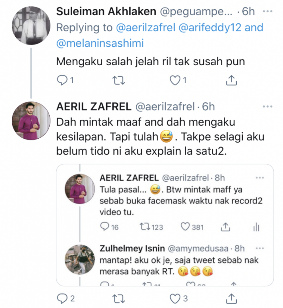 Twitter Aeril Zafrel