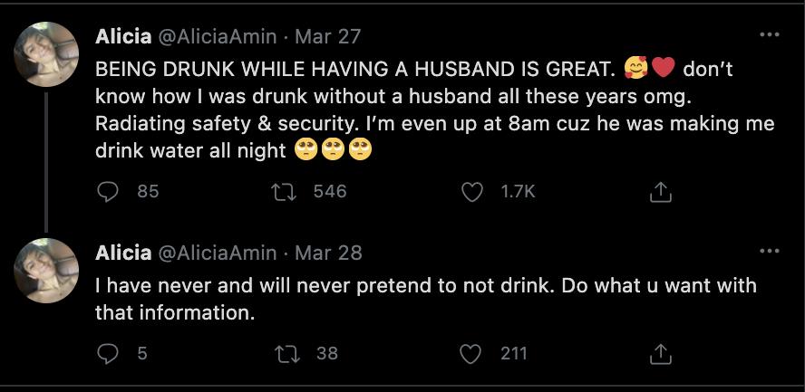 Twitter Alicia Amin