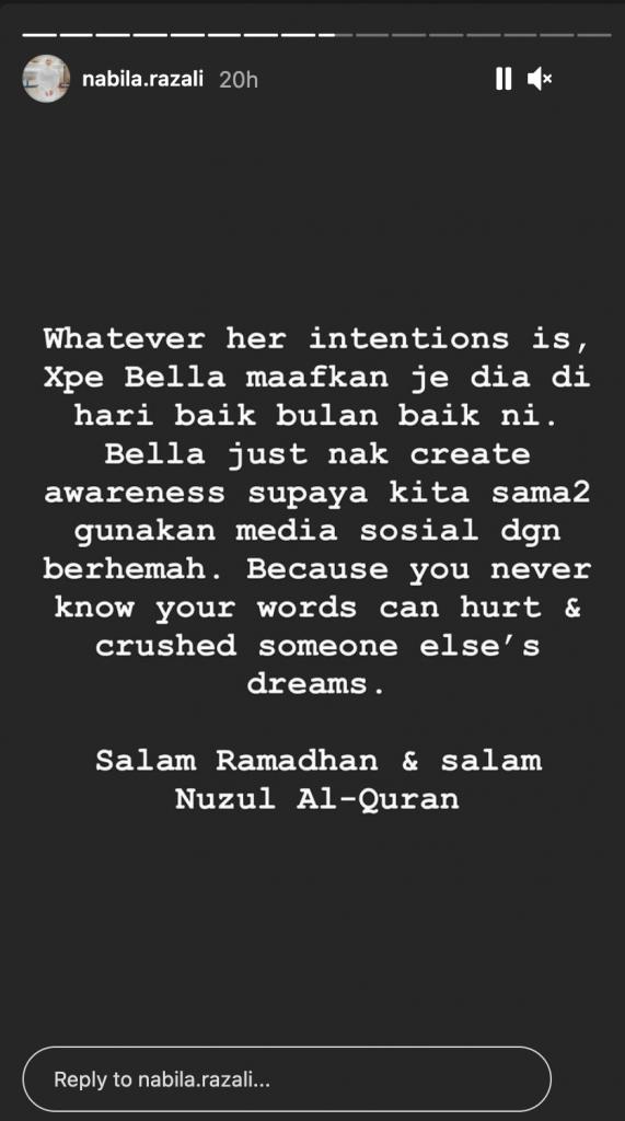Instagram Nabila Razali