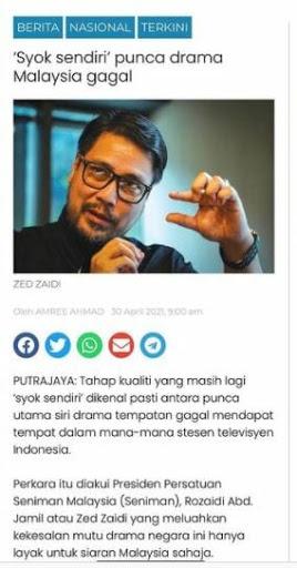 Nur Syok Sendiri Zed Zaidi