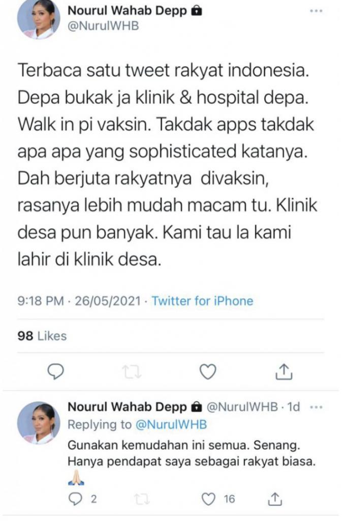 Twitter Nourul Wahab Depp
